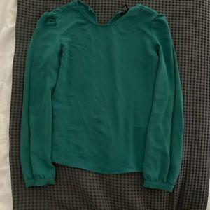 Green Cuffed Blouse